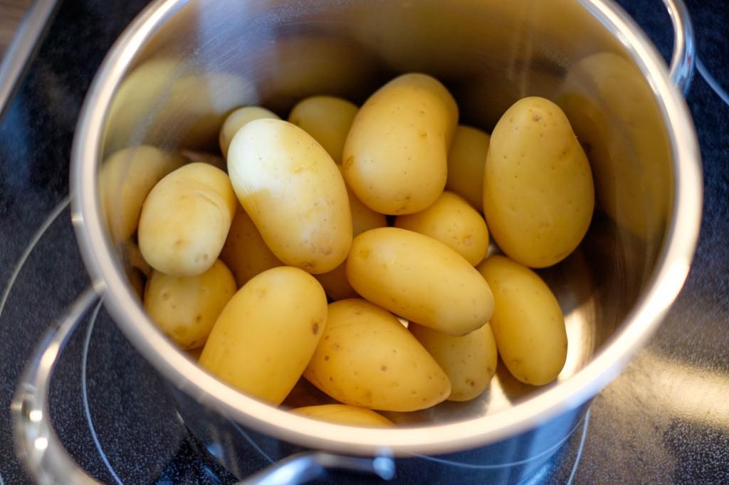 Köstliche kleine Frühkartoffeln