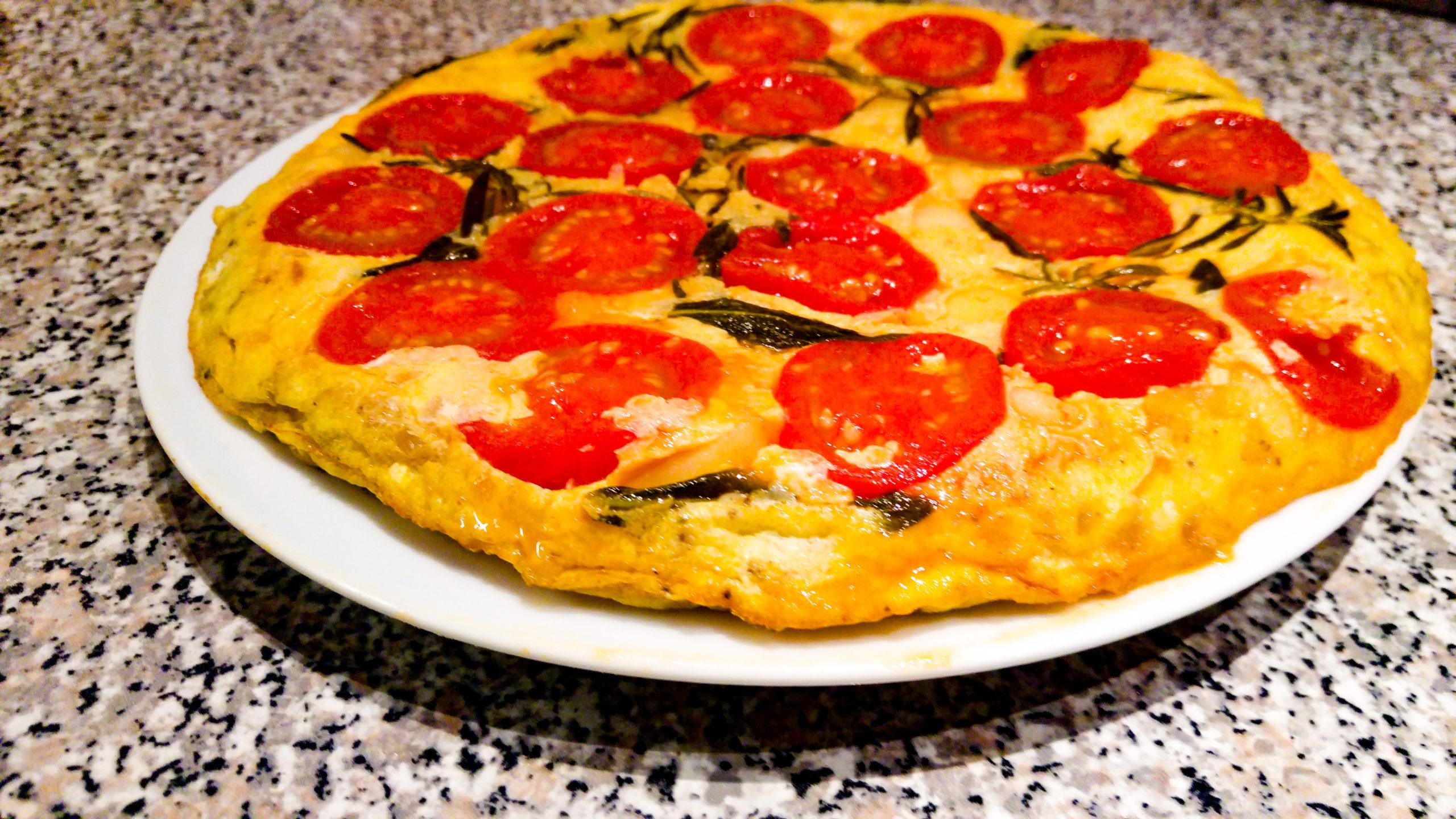 Aromatische Tortilla mit karamellisierten Tomaten