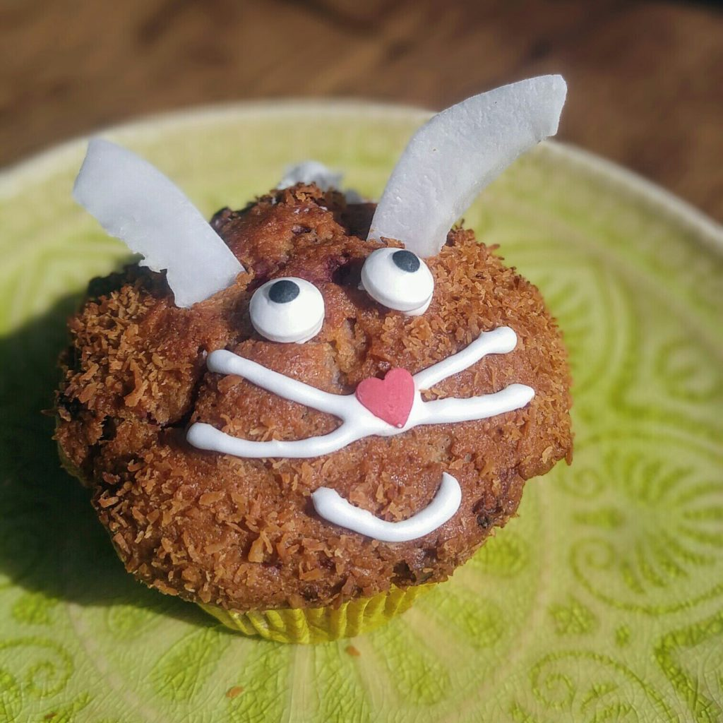 Himbeermuffin-Hase