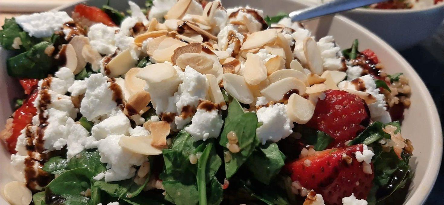 Erdbeer-Spinat Salat