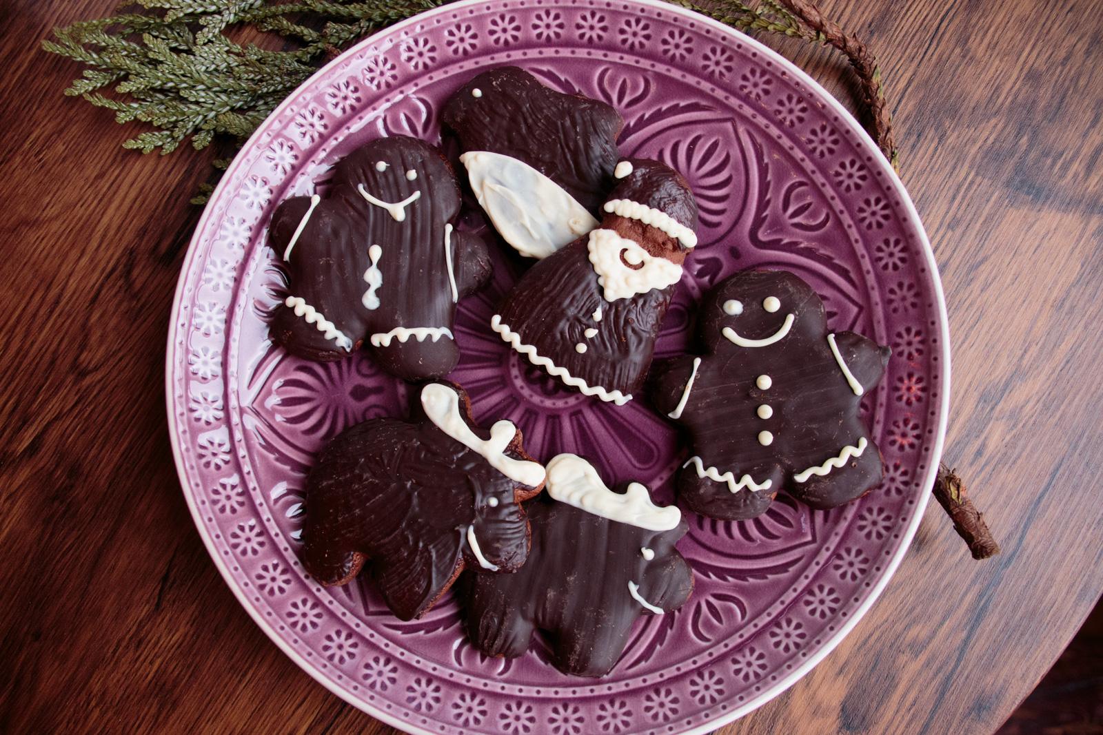 Mit Schokolade überzogene Lebkuchen